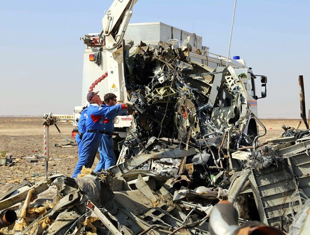 Работы на месте крушения самолета Airbus A321
