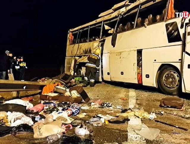 Последствия ДТП с участием автобуса
