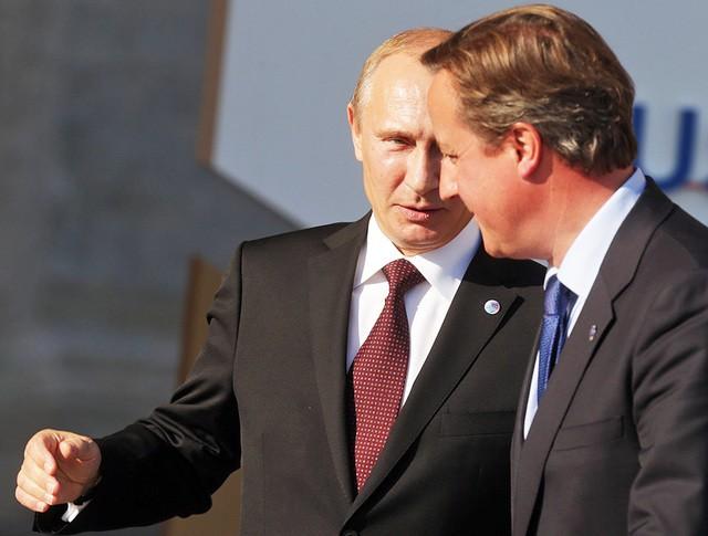 Владимир Путин и Дэвид Кэмерон