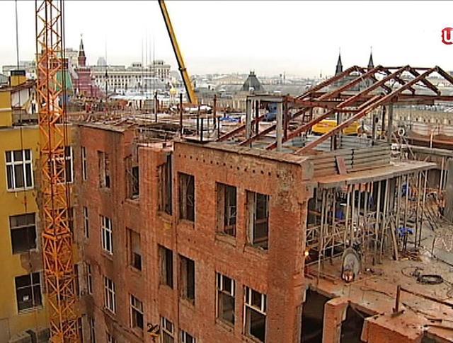 Демонтаж 14-й корпуса Московского Кремля