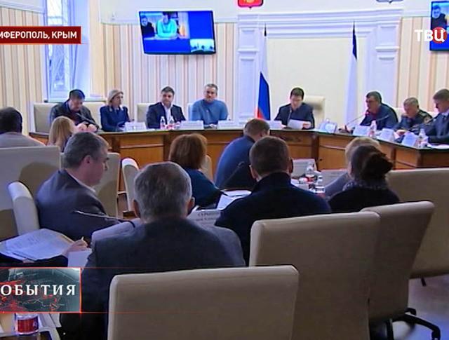 Заседание штаба по ликвидации последствий чрезвычайного происшествия