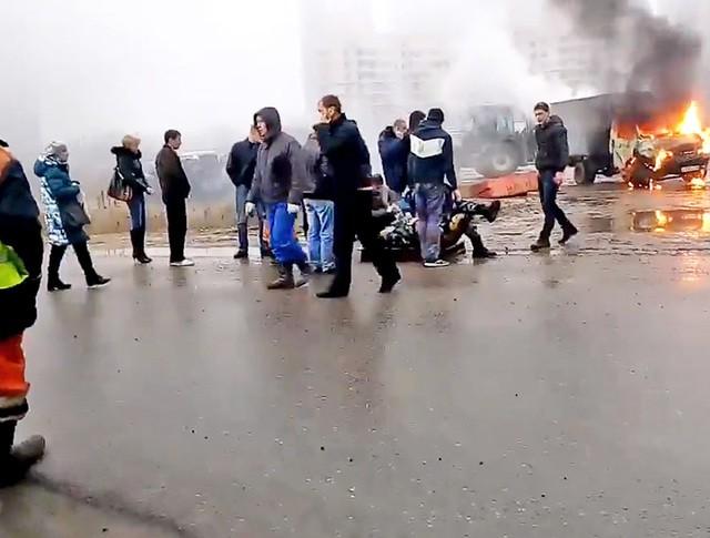 Последствия нападения на полицейских в Санкт-Петербурге