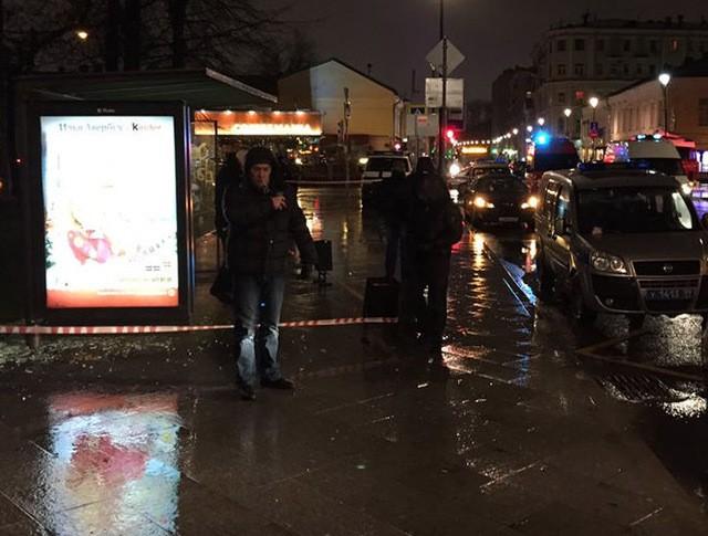 Взрыв на остановке в Москве