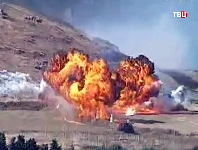 Последствия авиаудара ВВС Турции