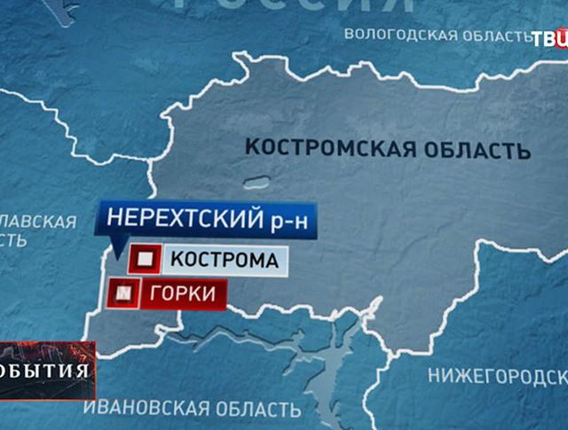 Карта Костромской области