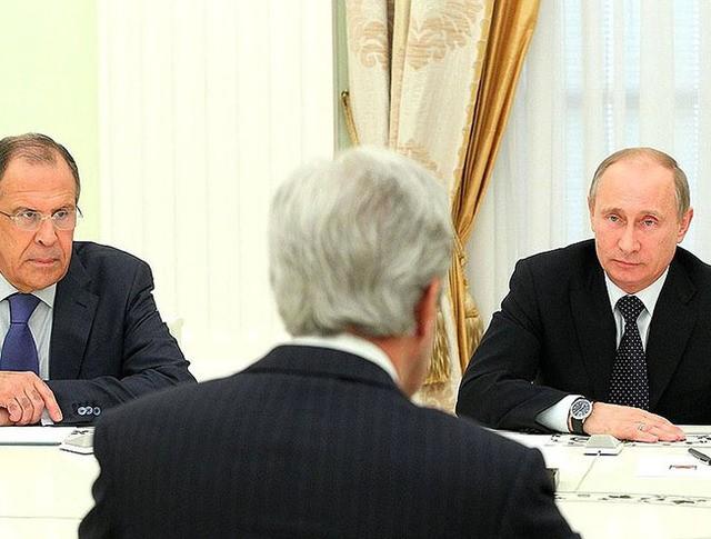 Владимир Путин, Джон Керри и Сергей Лавров
