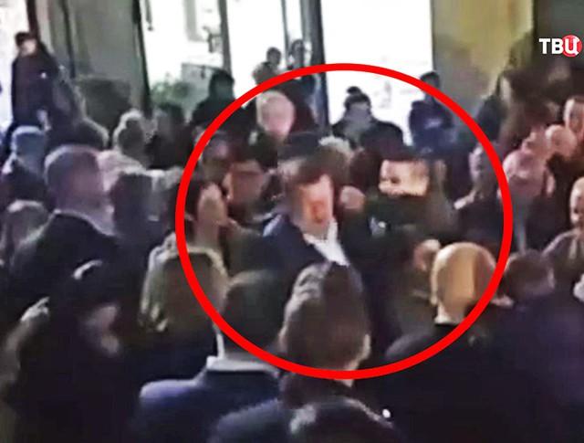 Нападение на премьер-министра Испании Мариано Рахоя
