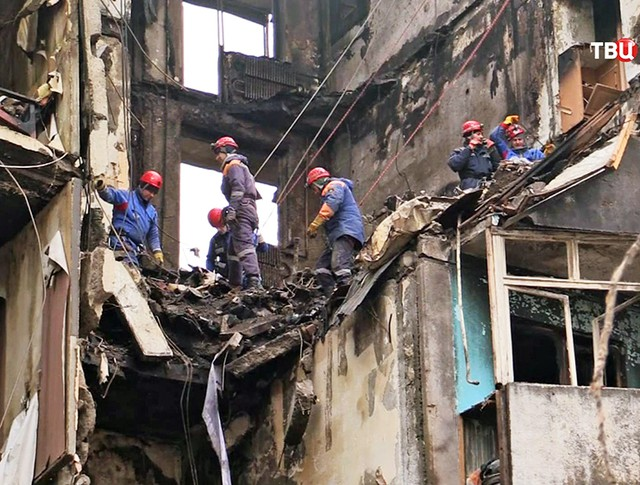 Спасатели МЧС Калининграда на месте происшествия