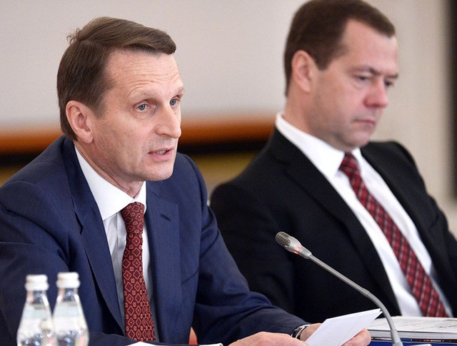 Сергей Нарышкин и Дмитрий Медведев