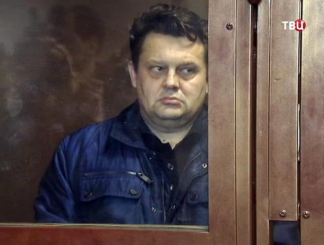 Алексей Титов в суде по делу падения пассажирского лифта в доме