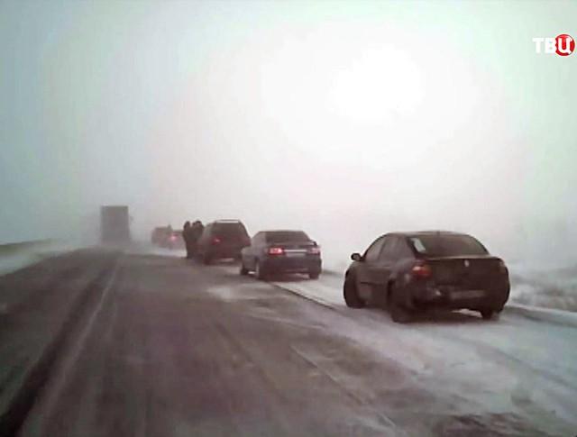 Снежная буря на трассе