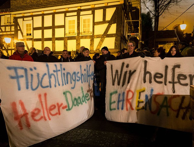 Акция протеста в Германии