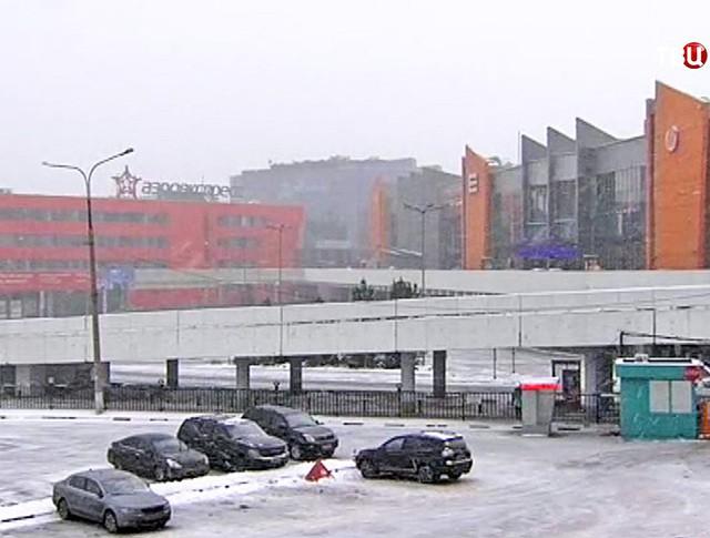 """Снегопад в """"Шереметьево"""""""