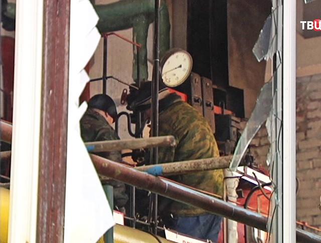 Последствия взрыва в котельной