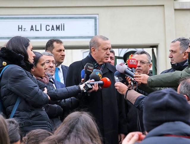 Президент Турции Реджеп Тайип Эрдоган даёт интервью