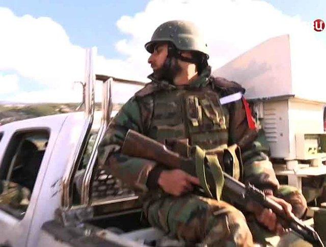 Бойцы армии Сирии