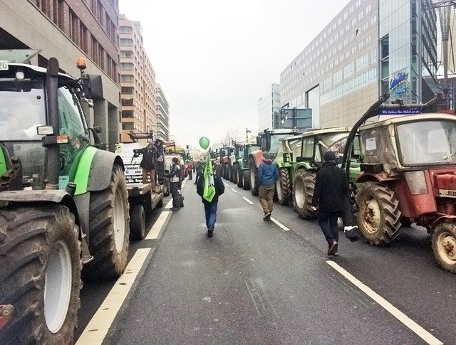 Протест немецких фермеров