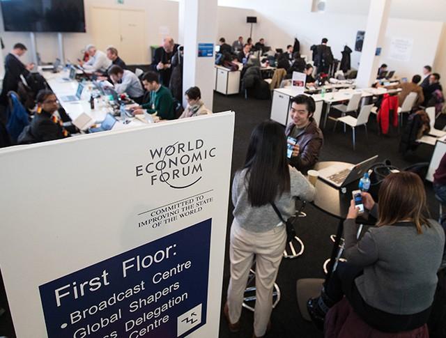 Медиацентр Всемирного экономического форума в Давосе