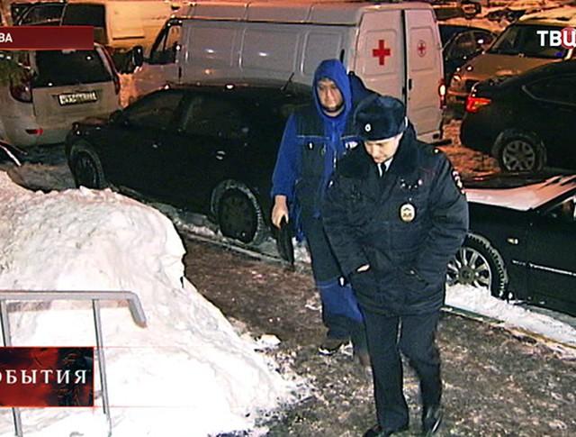 Полиция на месте трагедии