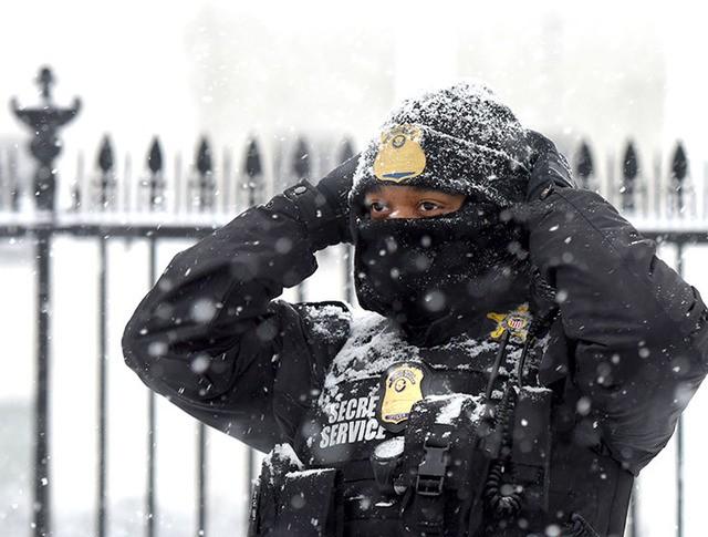Снегопад в США