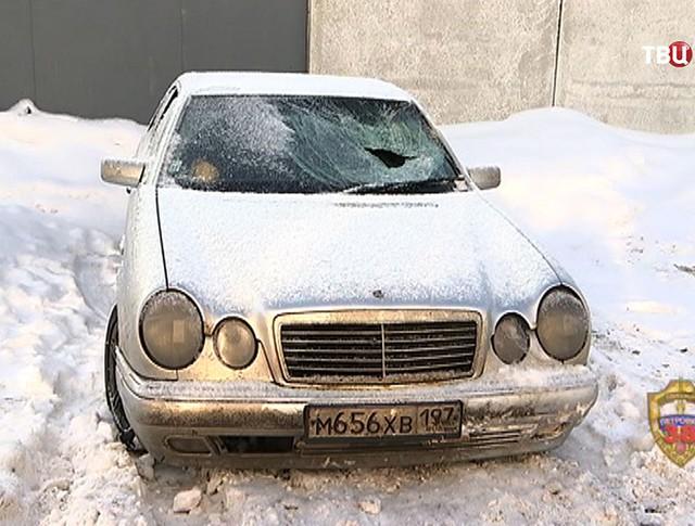 Автомобиль преступников сбивших полицейского