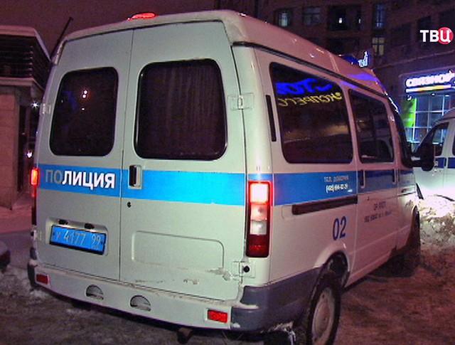 Машины полиции на месте происшествия в Москве