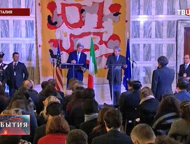 Пресс-конференция госсекретаря США Джона Керри в Риме