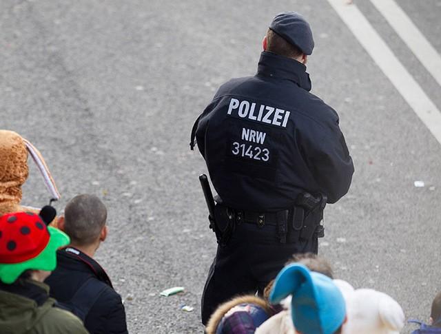 Полиция Германии во время карнавала