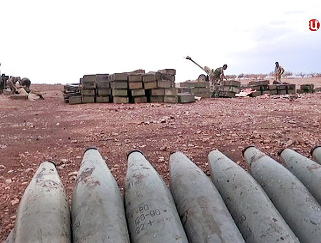 Артиллерия сирийской армии