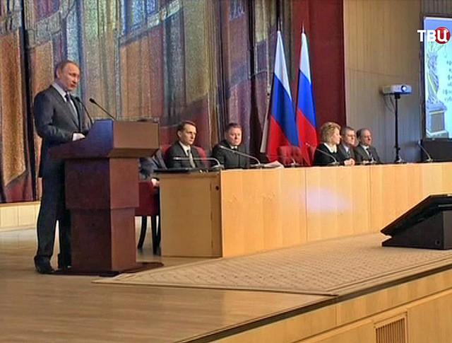Президент России Владимир Путин на семинаре-совещании российских судей