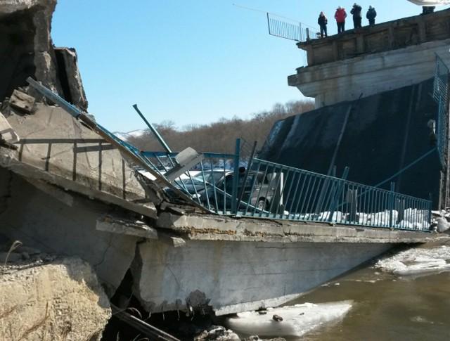 Обрушение моста в Приморье