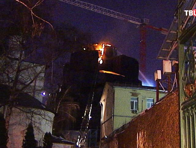 Пожар в Сретенском монастыре