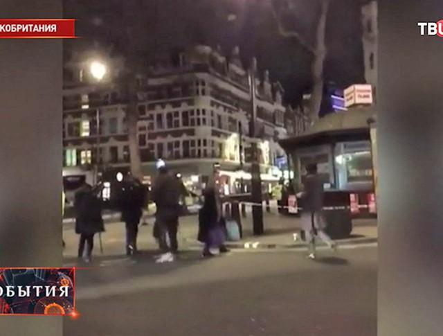 Полиция на месте захвата заложников в Лондоне