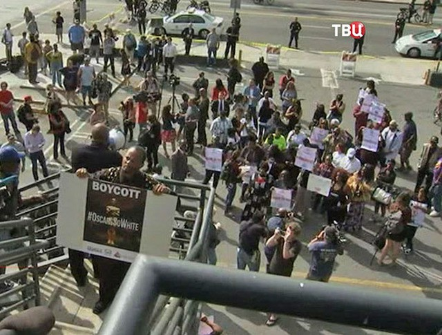 Акция протестов в Лос-Анджелес