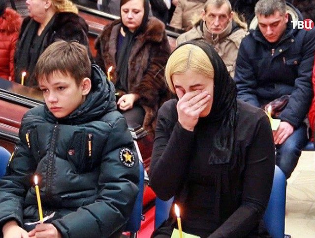 "Траурная панихида по погибшим на шахте ""Северная"""