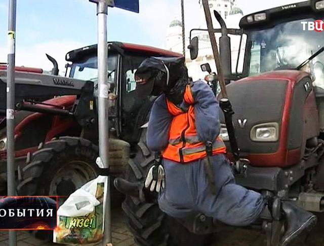 Акция протеста финских фермеров