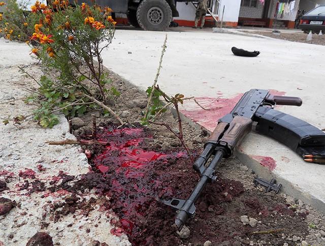 На месте спецоперации в Дагестане