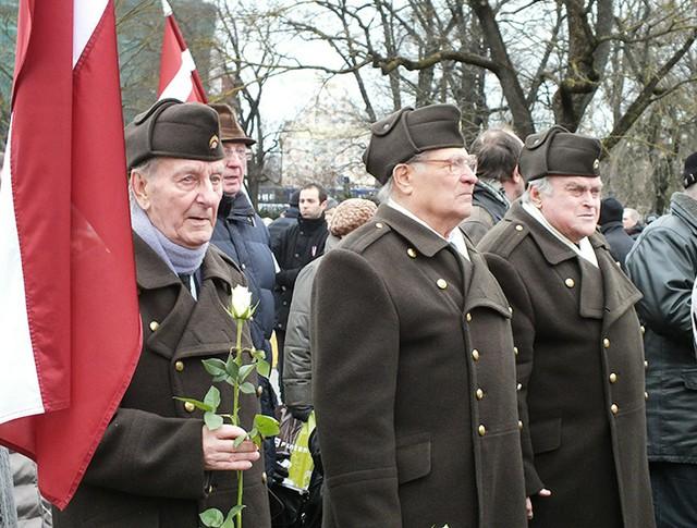"Марш латышского легиона ""Ваффен-СС"" в Риге"