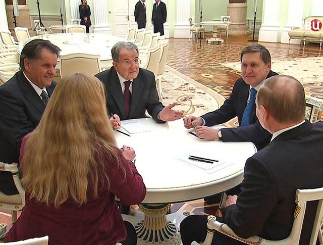 Владимир Путин и Романо Проди