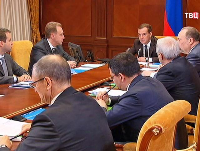 Дмитрий Медведев на заседании кабинета министров
