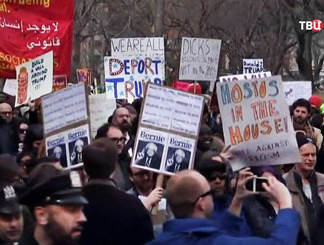 Митинг противников Дональда Трампа