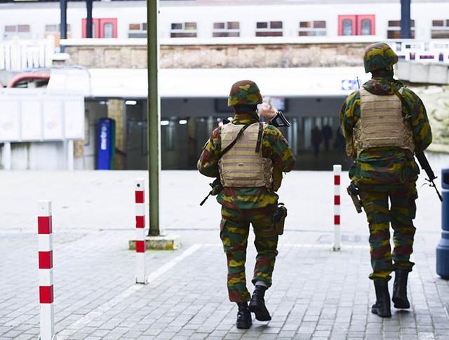 Патрулирование улиц Брюсселя