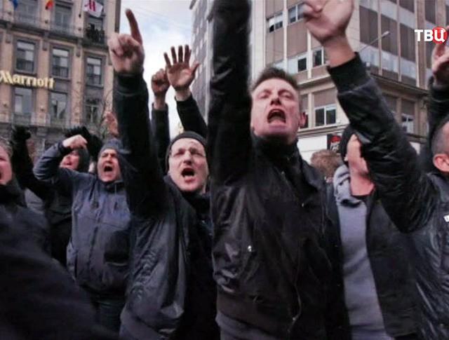 Митинг в Брюсселе