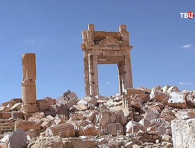 Разрушения в сирийском городе Пальмира