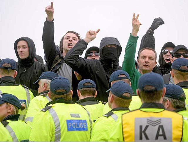 Антимиграционный митинг в Великобритании
