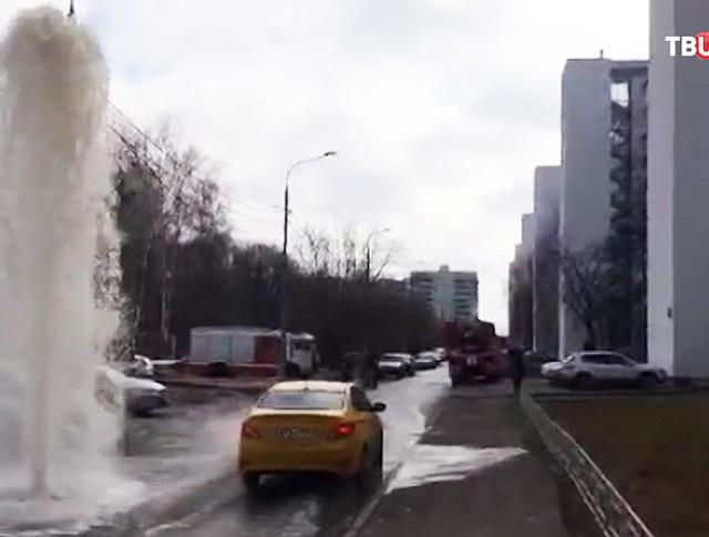 Прорыв канализации в Зеленограде