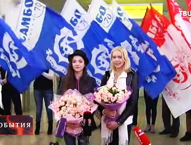 Фигуристки Медведева и Погорилая