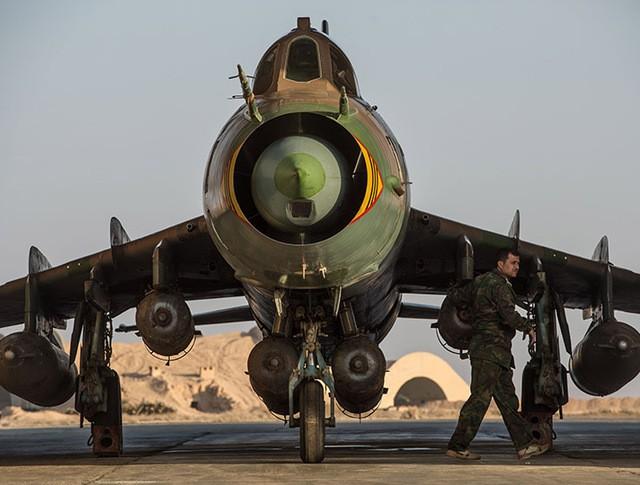 Самолет Су-22 сирийских ВВС