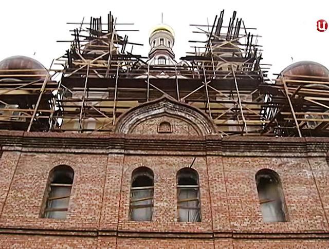 Строительство Церкови Сретения Господня