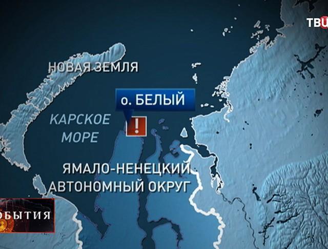 Карта Ямало-Ненецкого округа